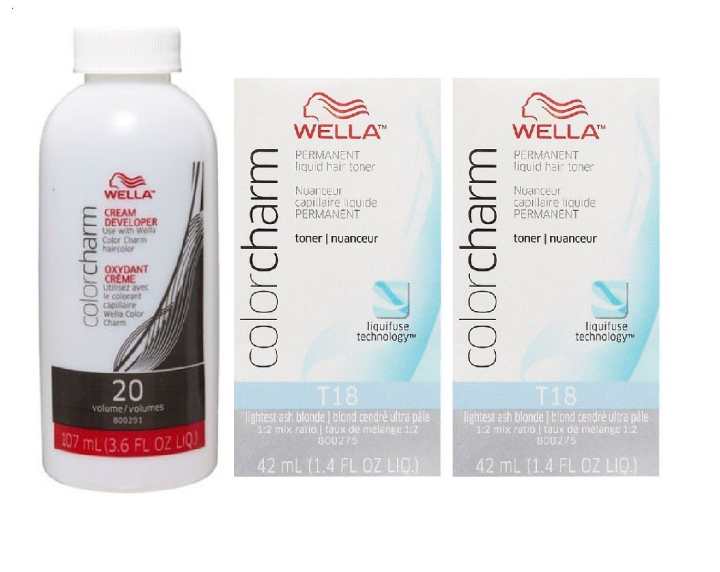 Amazon Wella Color Charm T18 Lightest Ash Blonde 2 Pack With