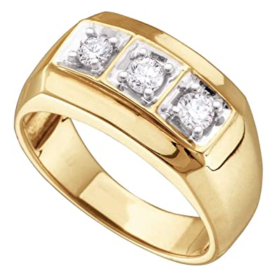 Sonia Jewels 14k White And Yellow Two 2 Tone Gold Three 3 Stone