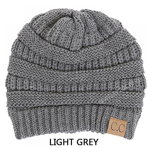 Light Grey_Winter Hat Cap Fashion Cap- outdoor skiing (US Seller)