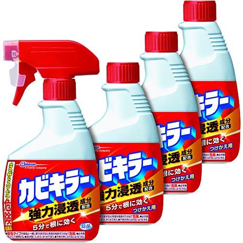 [대량구입 특가] 카비키라 욕실용 곰팡이 제거제 본체 1 개 +리필 3 개 세트 400g × 4 개 / 특대 본체 1000g / 특대 본체 1000g +리필 1000g