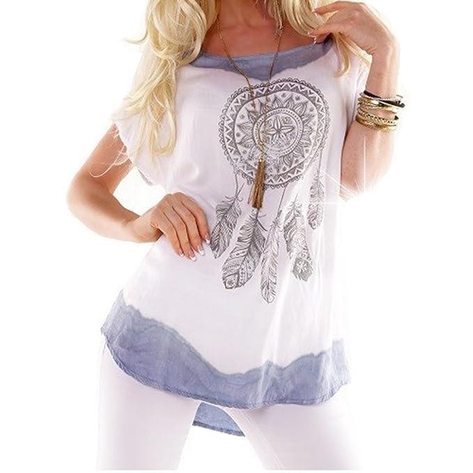 Juleya Camisa Tops Blusas Mujer Vintage Blusa Estampada Elegante Manga Corta Plus Size Mujeres Blusas Casual
