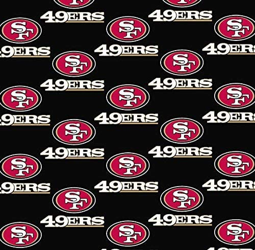 """Sold in 18/"""" x 58/"""" pieces San Fransisco 49ers NFL Team  Material"""