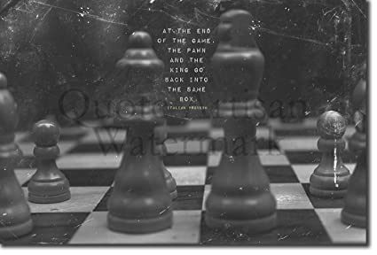 Chess Ajedrez Póster Motivacional 06 At The End Of The
