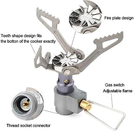 BRS Ultraligero de aleación de titanio camping estufa de gas quemador al aire libre cocina estufa 25g