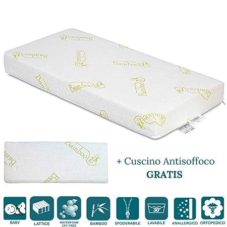 Materasso Poliuretano Espanso O Lattice.Evergreenweb Materasso Per Bambini 70x140 In Lattice E Water
