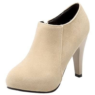 Amazon.com | FizaiZifai Women High Heel Ankle Boots Autumn Winter Party | Boots