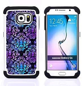 - iridescent teal purple wallpaper pattern - - Doble capa caja de la armadura Defender FOR Samsung Galaxy S6 G9200 RetroCandy