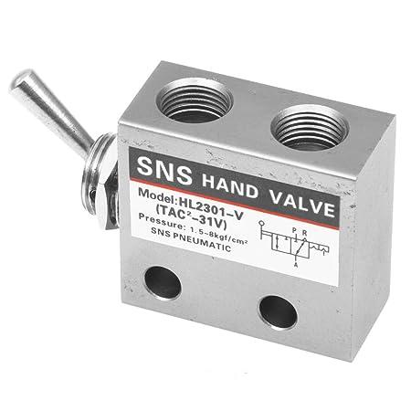 SODIAL(R) Carbon Steel Pneumatic Knob Switch Valve HL-2301-V - - Amazon.com