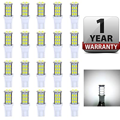 Antline T10 921 194 168 LED Bulbs White 20-Packs, Super Bright 3014 42-SMD LED Replacement 12 Volt RV Camper Trailer Boat Trunk Interior Dome Map License Lights, Backup Reverse Lights: Automotive