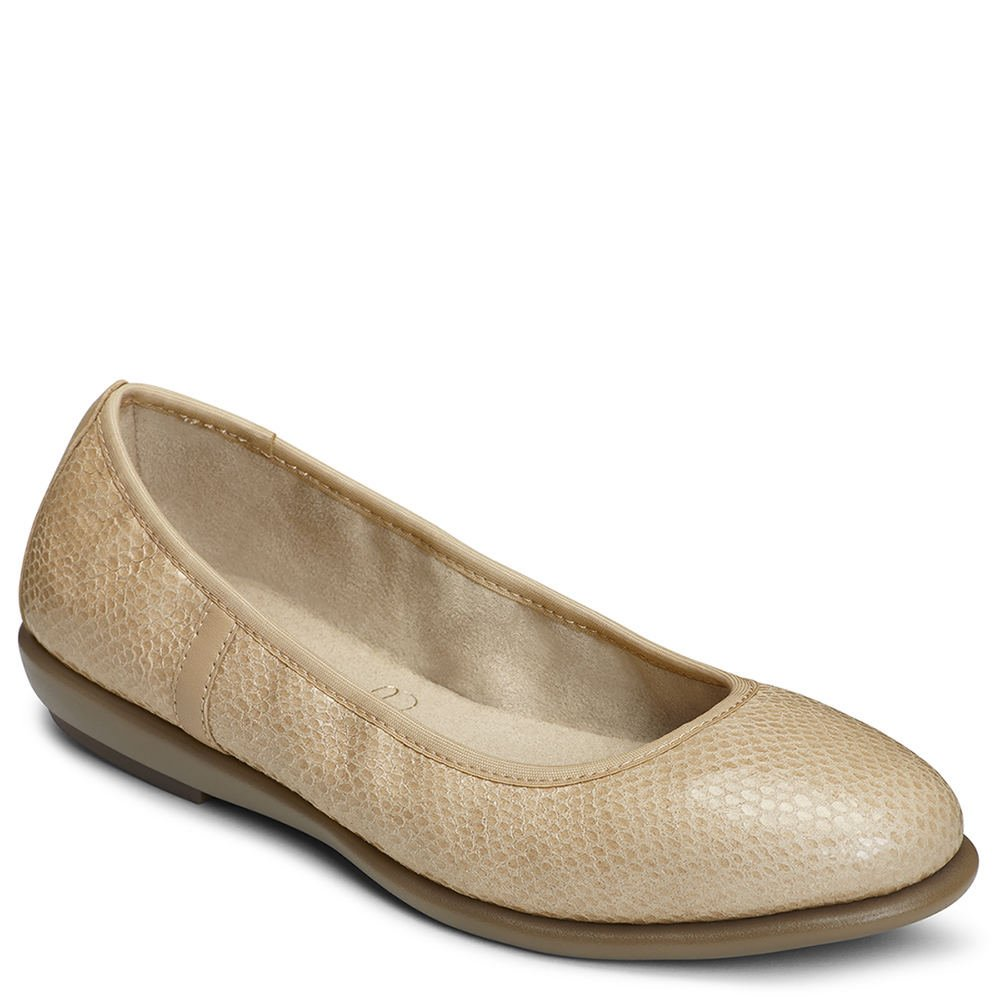 Aerosoles Women's Better Yet Ballet Flat B074QT1GKD 7 W US|Light Tan Snake