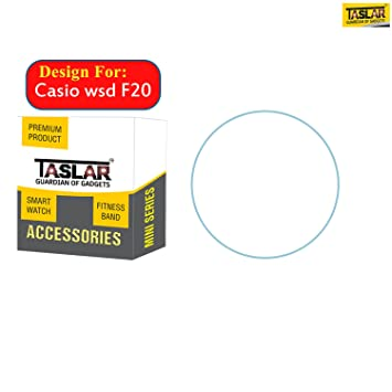 Taslar Screen Protector Arc Edge Tempered Glass Scratch Screen Protector  Guard Card for Casio WSD F20 23a63c3ba0d