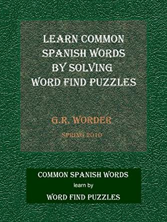 Learn Common Spanish Words by Solving Word Find Puzzles