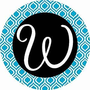 Accent magnet-whimsy-w-monogram–Auto–Casa–cocina–Patio–seis (6) (–fabricado en Estados Unidos–Licencia, autor por Decoración personalizada Inc.
