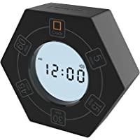 Hexagon Rotating Timer, 5,15, 30, 45, 60 Minute Preset Countdown Timer, Easy-to-Use Time Management Tool for Classroom…