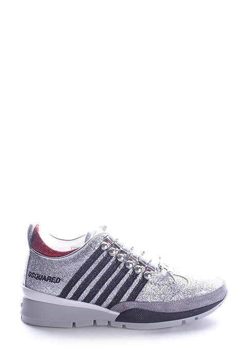 DSQUARED2 MUJER W14K501292F045 PLATA PURPURINA ZAPATILLAS: Amazon.es: Zapatos y complementos