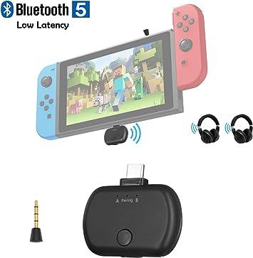 Transmisor de Audio Bluetooth 5.0 con USB C para Nintendo Switch ...
