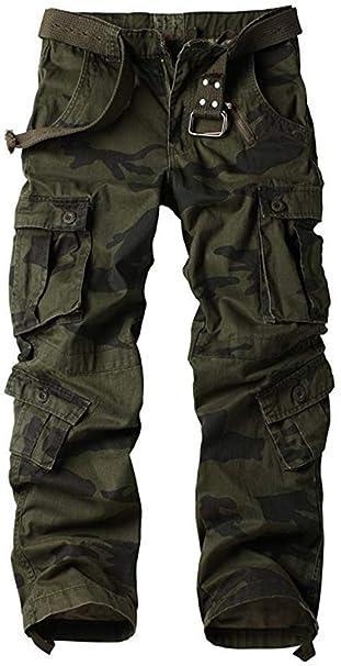 AbelWay - Pantalones de Trabajo para Hombre de algodón Casual ... e40c15eb3e49