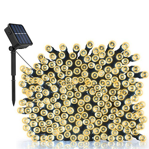 Outdoor Solar String Lights, LDesign 72ft Decorative Lights Waterproof Christmas Lights (Warm White- 2 mode)