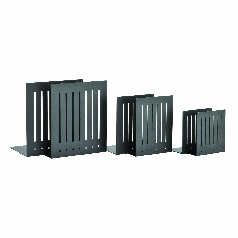 STEELMASTER Heavy Duty 10-Inch Steel Bookends, 1 Pair, Black (241100004) by STEELMASTER (Image #4)