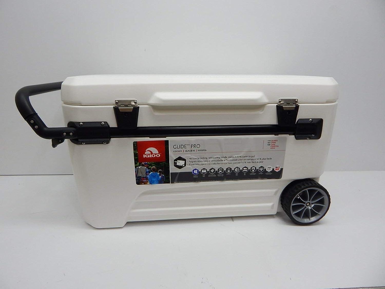 Igloo Glide Pro Roller 110 Qt Cooler White