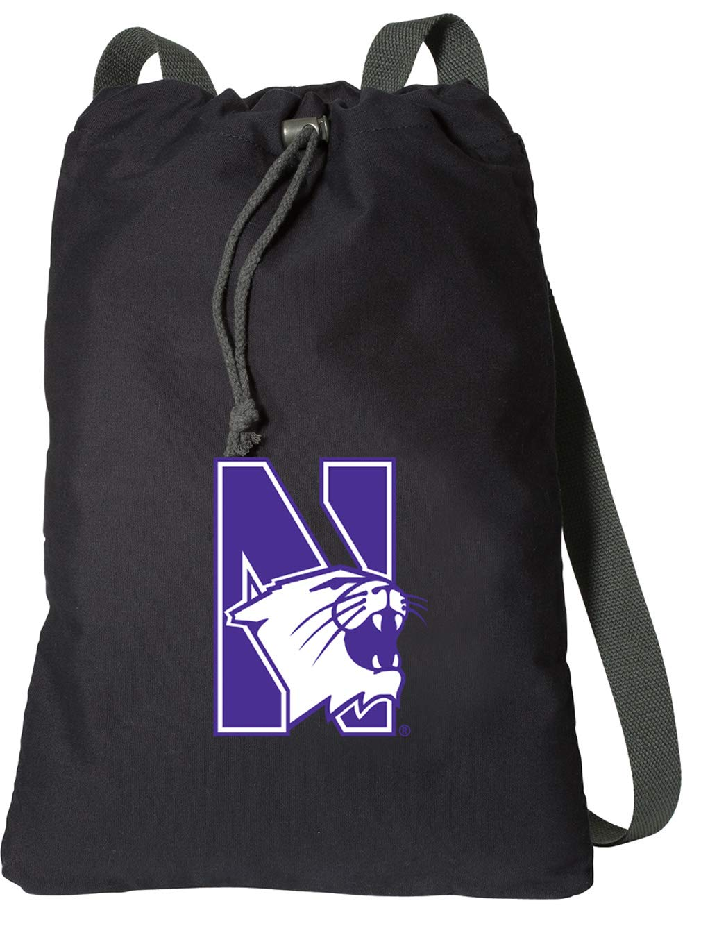 Broad Bay Northwestern University Drawstring Backpack Rich Canvas Northwestern Wildcats Cinch Bag