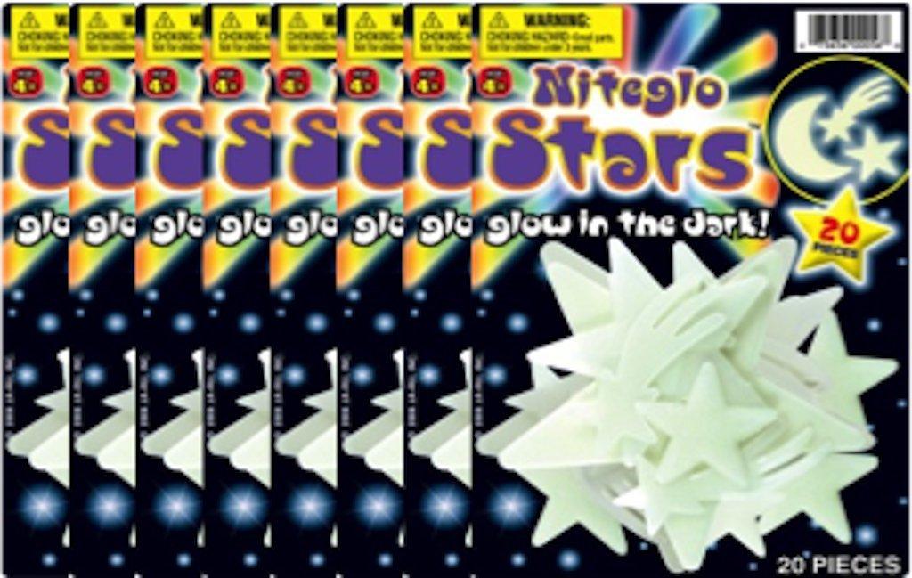 Toys 23993 JA-RU Nite Glo Stars and Moon Ja-Ru Inc
