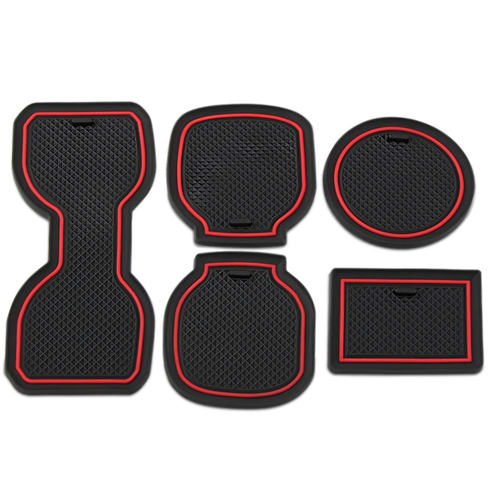 JessicaAlba Custom Fit Door Mats Gate Slot Mat Cup Pads Cup Holder and Door Compartment Liner Accessories for Toyota Tacoma 2016 2017 2018 2019 JE-TMMCD0000R