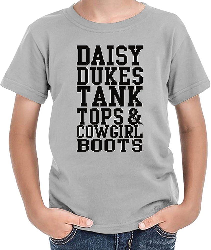 Daisy Dukes Tank Tops & Cowgirl Boots Slogan Camiseta niños 10/12 yrs: Amazon.es: Ropa y accesorios