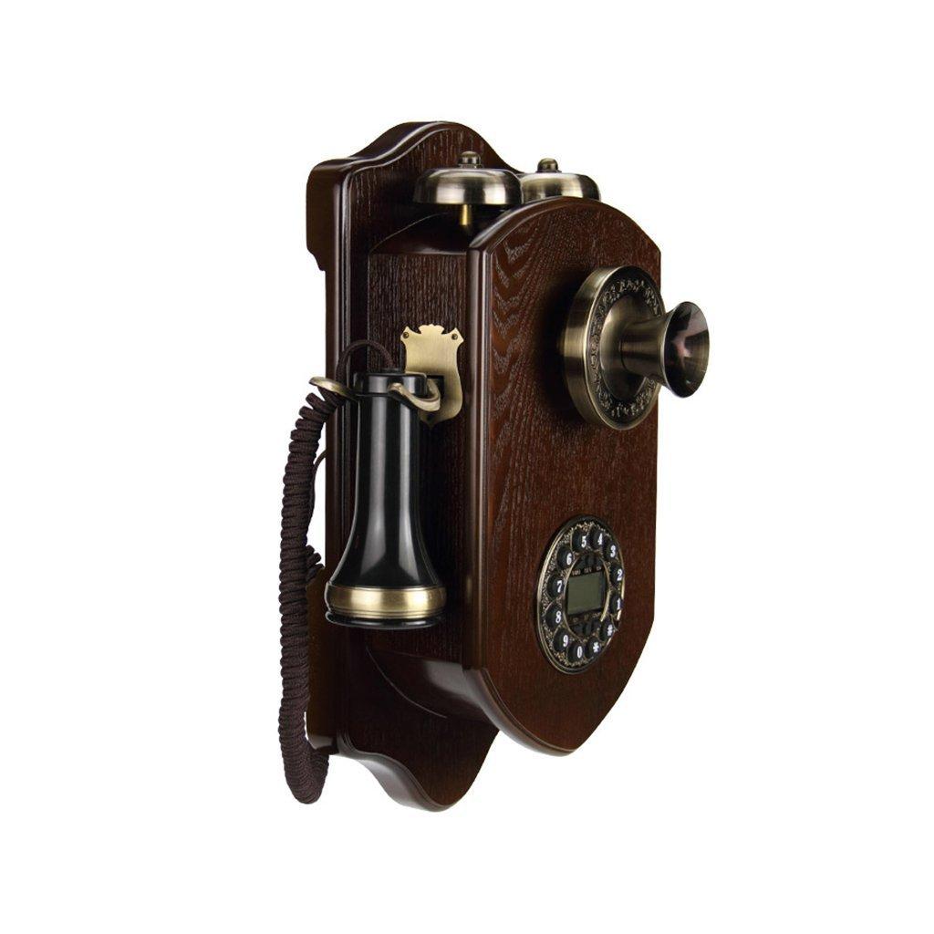 Teléfono retro vintage de pared madera macizahttps://amzn.to/2zT3hKn