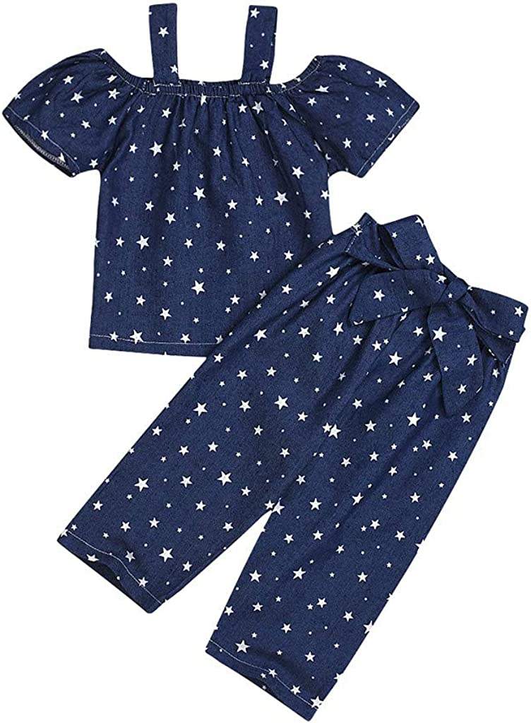 MetCuento Baby Little Girl Summer Outfit Raindrops T-Shirt Tops Short Pants 2Pcs Toddler Clothes Sets Casual Playwear