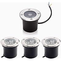 Foco Suelo Led Lámpara de Subterránea 3W 3000K Blanco Cálido Impermeable IP67 AC85-265V 270LM LED Foco empotrable al…