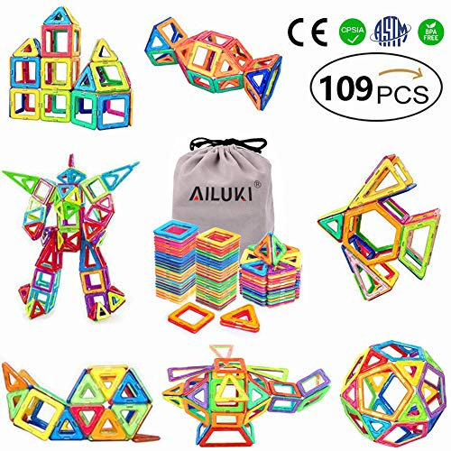 Magnetic Blocks,Ailuki 109 Pcs...