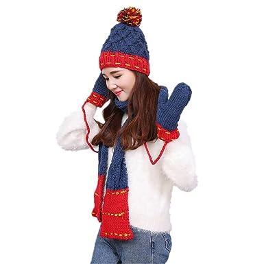 Warme Wintermütze Strickmütze Skimütze Mütze Beanie Zopfmuster Farben Acryl