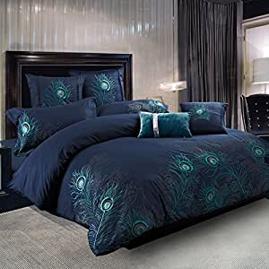 Amazon Com Bedding Collection Peacock Feathers 100
