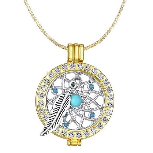 1615e5322960a New Arrival Luxury Commemorate Coin Locket Pendant Necklace - Dreamcatcher