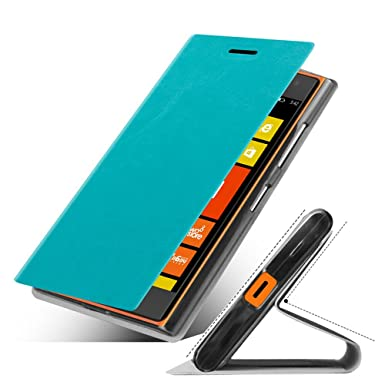 on sale 0ff23 a6307 AnoKe@ Nokia Lumia 730 735 (Blue) leather case View Window Stand ...