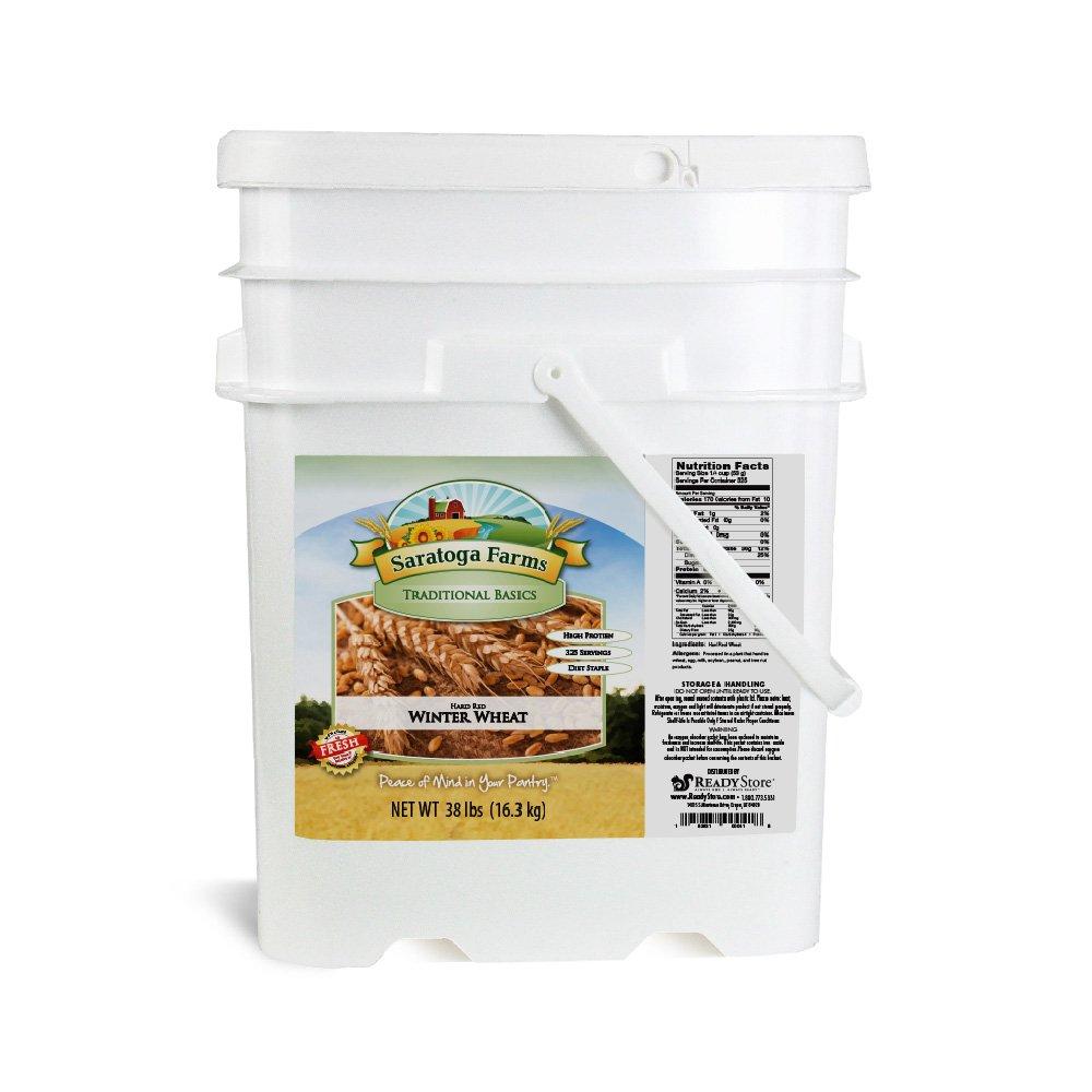 Saratoga Farms Hard Red Winter Wheat ValueBUCKET, 5.3-Gallon Bucket, 608oz, Food Storage, Everyday Use