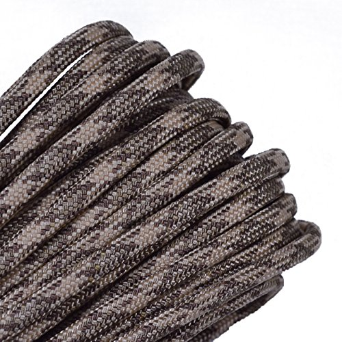 Bored Paracord - 1', 10', 25', 50', 100' Hanks & 250', 1000' Spools of Parachute 550 Cord Type III 7 Strand Paracord Well Over 300 Colors - Brown Snake - 10 Feet