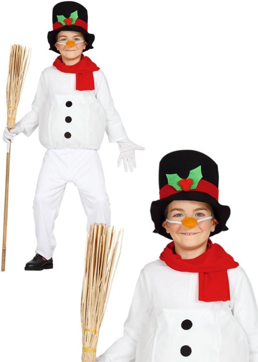 Disfraz de muñeco de nieve infantil 3-4 años: Amazon.es: Juguetes ...