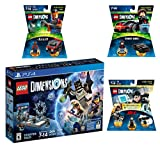 Lego Dimensions Demolition Starter Pack + Mission Impossible Level Pack + A-Team Fun Pack + Knight Rider Fun Pack for Playstation 4 or PS4 Pro Console