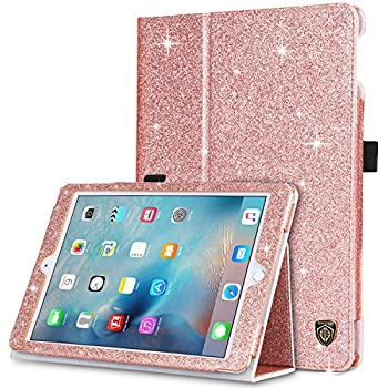 amazon com bentoben ipad 9 7 2018 case, ipad 9 7 2017 case, ipadbentoben ipad air 2 case,ipad air 1 case,ipad 9 7 2018 2017 case,sparkly glitter pu leather folio stand smart cover auto wake sleep protective ipad case for