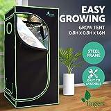 Weather Proof Lightweight Grow Tent - 80x80x160cm (Black)