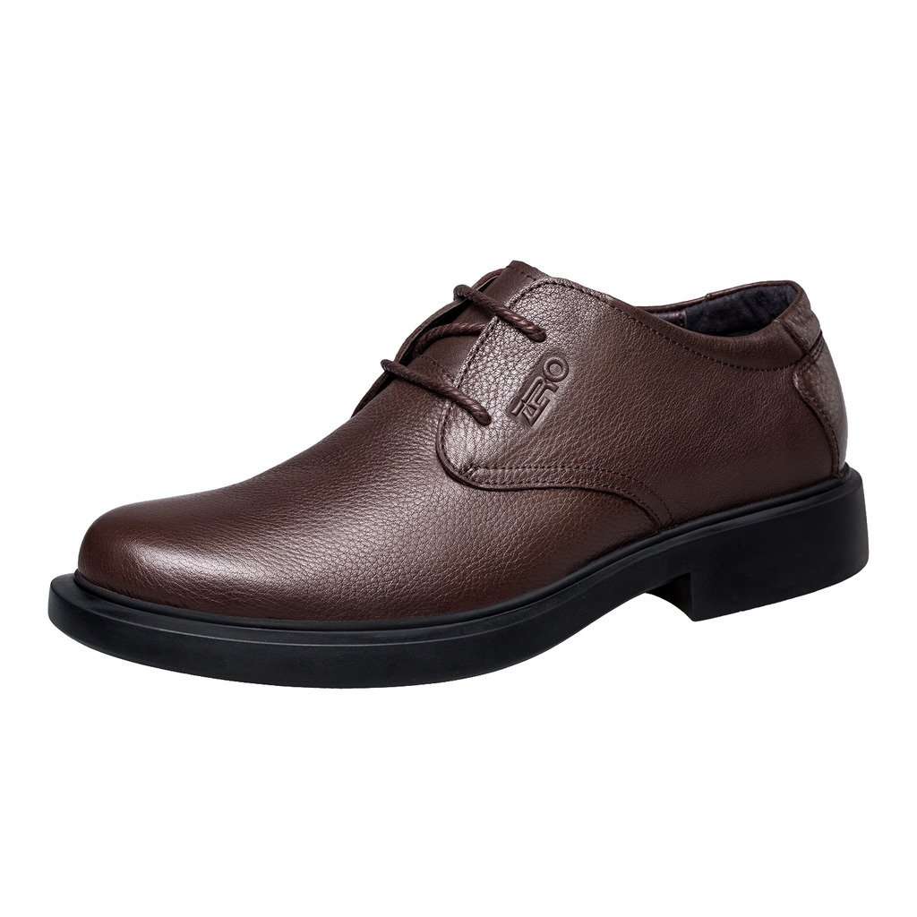 ZRO Men's Round Toe Oxford Shoes Lace Up Casual business Brown US 6 by ZRO (Image #2)