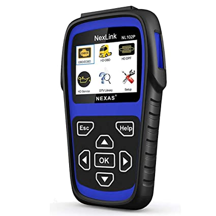 AUTOPHIX Heavy Duty Truck Scan Tool NL102 Plus Auto Scanner with DPF/Sensor  Calibration/Oil Reset + Check Engine for Cars