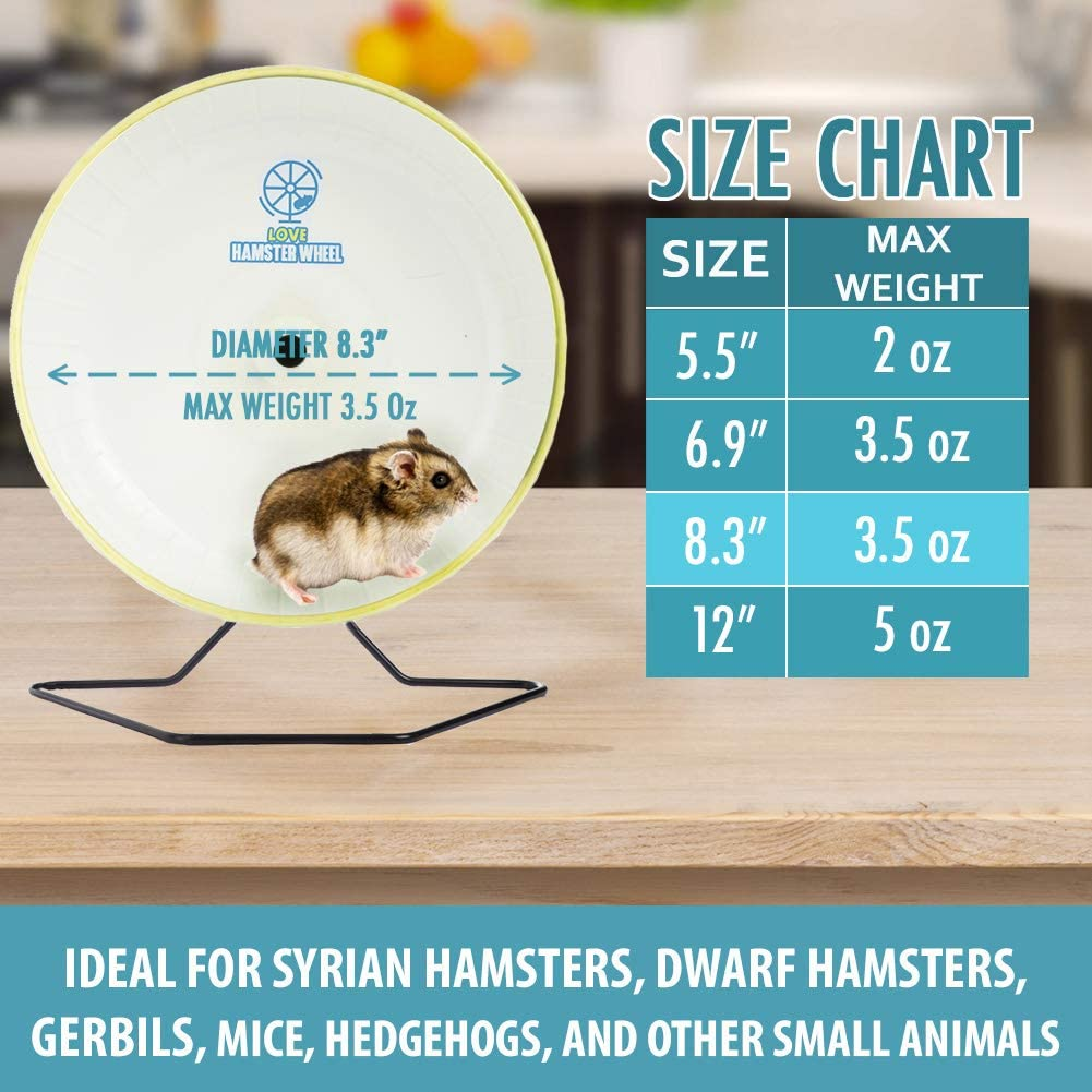 Hamster Wheel 8 Pet Comfort Treadmill Running Quiet Wheels Large And Easy Attach To Wire Cage For Small Animals Under 3 5 Oz 100 Grams Weight Syrian Hamsters Rats Guinea Pig Ferret