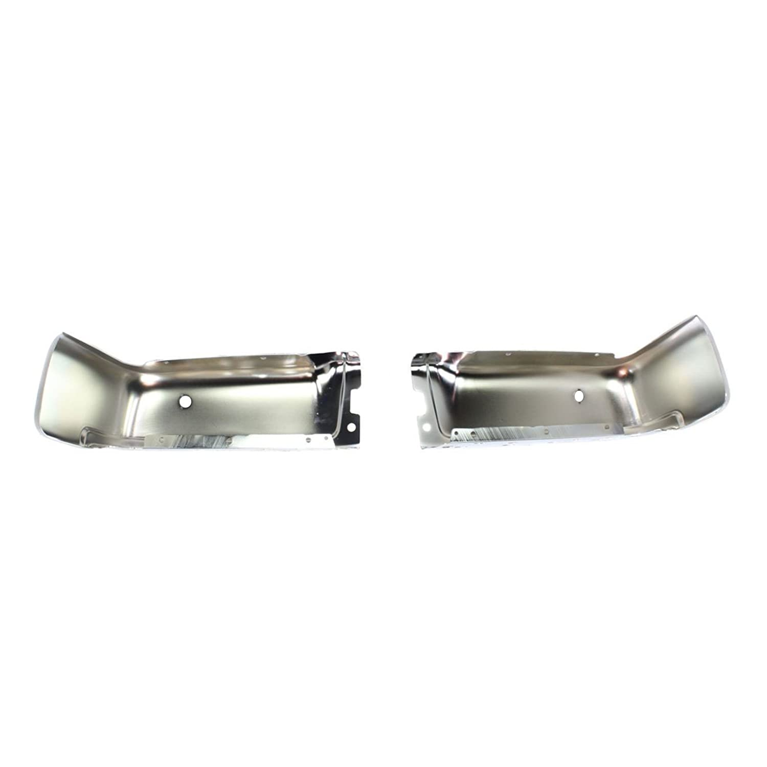 FO1102372 Chrome BUMPERS THAT DELIVER Steel Pair of Left /& Right Rear Bumper End Caps for 2009-2014 Ford F-150 Pickup w//Park Assist 09-14