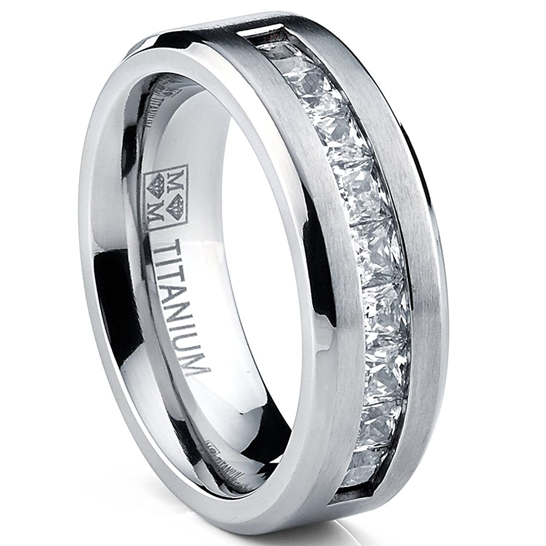Metal Masters Co Titanium Men s Wedding Band Engagement Ring