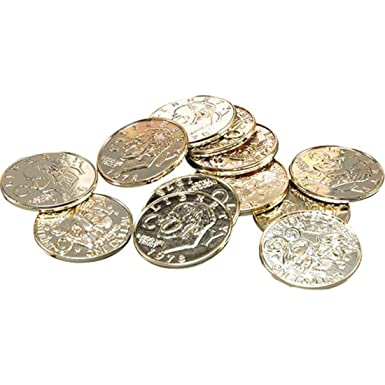 Party Supplies Super Cool 144 pack of Gold Plastic Pirate Coins