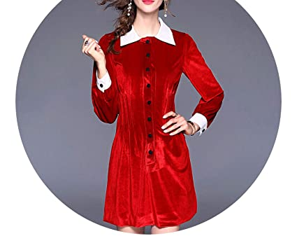 Star Style Womens Catwalk Winter Velvet Dress 2018 Dress Women Red Lace Dress Vestidos K8912,