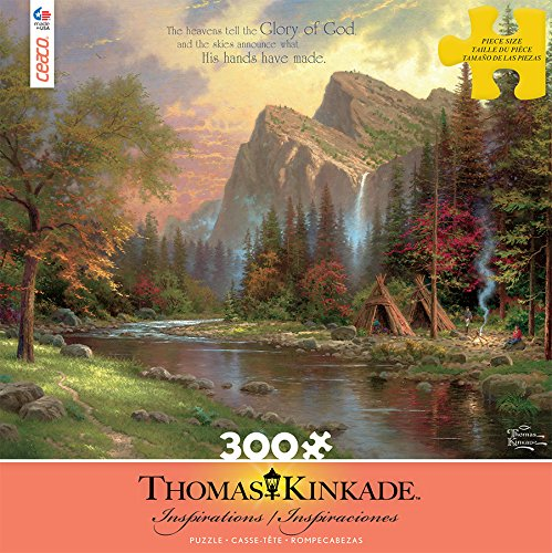 Ceaco Thomas Kinkade Inspirations The Mountains Declare His Glory Puzzle (300 Piece)
